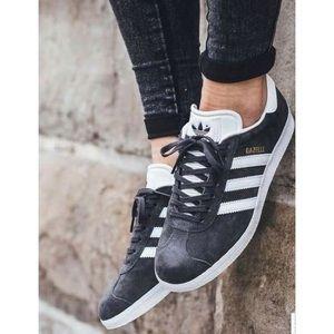 Adidas Dark Grey Suede Gazelle Sneakers